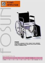 รถเข็นนั่งถ่าย รุ่น FS609 ชุบโครเมี่ยม พับได้